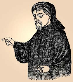 drawing of Geoffrey Chaucer