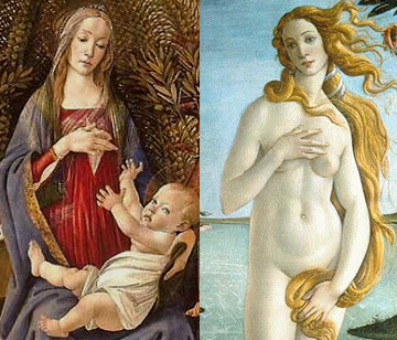 Comparison between Venus and Madonna