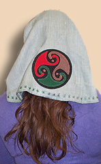 Applique on head scarf