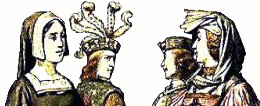 French 1440-1460 hats for men and women