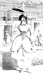 Fashionable 19th C. lady in bloomers.