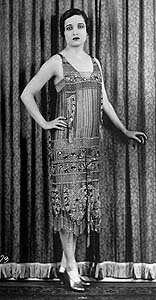 Flapper of the 1920s.