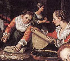 Pie making in a Renaissance Kitchen